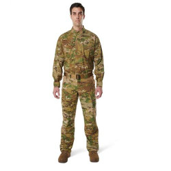 5.11 Tactical 72480T MEN'S 5.11 STRYKE® TDU® MULTICAM® LONG SLEEVE UNIFORM SHIRT, mandarin collar, sleeve pockets, Badge tab and epaulette kits included, Tall Fit