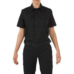 5.11 Tactical WOMEN'S 5.11 STRYKE® PDU® CLASS-B SHORT SLEEVE SHIRT, Hidden front zip closure, Pass-through mic access, Includes Badge tab, Camera and radio loop enforcement kit, and Epaulette kit, 61018