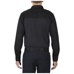 5.11 Tactical 72093 Taclite PDU Rapid Casual/Uniform Long Sleeve Polo Shirt, Polyester/Cotton, Midnight Navy Blue