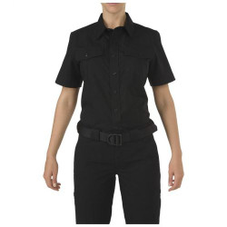 5.11 Tactical WOMEN'S 5.11 STRYKE® PDU® CLASS-A SHORT SLEEVE SHIRT, Hidden front zip closure, Pass-through mic access, Includes Badge tab, Camera and radio loop enforcement kit, and Epaulette kit, 61016