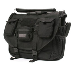 BLACKHAWK ADVANCED TACTICAL BRIEFCASE, Black, Constructed of 1000 denier nylon, Waterproof internal lining, shoulder strap and carry handle, Three external pockets, Five additional internal compartments, 61BC01