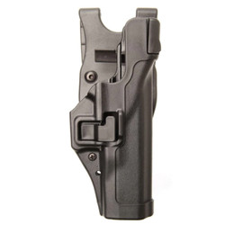 BLACKHAWK 44H1 SERPA® LEVEL 3 DUTY HOLSTER, FEATURING AUTO-LOCK™ TECHNOLOGY, Full-length holster body protects rear sights, Includes innovative Jacket Slot Duty Belt Loop