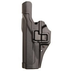 BLACKHAWK 44H0 SERPA® LEVEL 2 DUTY HOLSTER, FEATURING AUTO-LOCK™ TECHNOLOGY, Full-length holster body protects rear sights, Includes unique Jacket Slot Duty Belt Loop to attach to belt