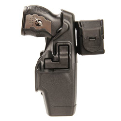 BLACKHAWK TASER® X-26 LEVEL 2 DUTY HOLSTER, Automatically engages the safety when re-holstering, Rigid holster body delivers improved retention, Protects cartridge in holster, 44H015