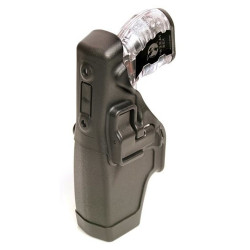BLACKHAWK 44H015 TASER® X-26 LEVEL 2 DUTY HOLSTER, Automatically engages the safety when re-holstering, Rigid holster body delivers improved retention, Protects cartridge in holster
