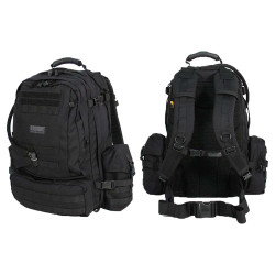 BLACKHAWK TITAN™ PACK, Constructed of heavy-duty 1000 denier nylon with reinforced stitching, Includes 100-oz. hydration reservoir and Upright GP Pouch and Nalgene® Bottle Pouch, Tie-down straps in main compartment, 65TI00