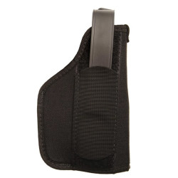 BLACKHAWK NYLON LASER HOLSTER, Constructed of 1000 denier CORDURA® nylon outer material, Carries popular-sized pistols with most under-barrel laser systems, Right Hand Only, Black, 40LH0