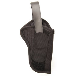 BLACKHAWK NYLON HIP HOLSTER WITH THUMB BREAK, Constructed of 1000 denier CORDURA® nylon outer material, Laminate construction for waterproof protection, Dual-slot belt loops for duty, sport or dress belts, non-stretch retention strap, Black, 40HT