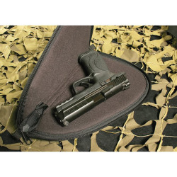 BLACKHAWK SPORTSTER® PISTOL RUG, Internal soft fabric protects firearm finish, Wraparound tactical web handles for superior weight support, Self-healing, heavy-duty, oversized coil zippers, Fits most pistols and revolvers, Black, 74PR