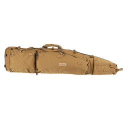 BLACKHAWK LONG GUN SNIPER DRAG BAG, Constructed of durable 1000 denier nylon and closed-cell foam, Detachable shoulder straps for muzzle-up or muzzle-down carry, Internal weapon-securing straps and two internal utility pouches, 20DB01