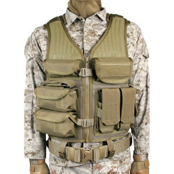 Blackhawk Omega Elite™ Tactical Vest EOD, available in Black, Coyote Tan, and Olive Drab 30EV05BK