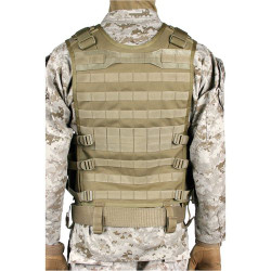 BLACKHAWK OMEGA ELITE™ TACTICAL VEST #1, Includes removable shotshell strip, Mag pouches with adjustable flaps for tall or short magazines, Two horizontal accessory pouches, Six M16/M4 mag pouches hold 12 magazines, 30EV03