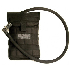 BLACKHAWK 65SH00 SIDE HYDRATION POUCH, Mount on side, back, front or backpack using Speed Clips™, holds up to 40 ounces of liquid, available in Black and Coyote Tan