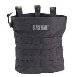 BLACKHAWK ROLL-UP DUMP POUCH - MOLLE, Shock cord cinches tight to retain contents, Stiffener in opening of main compartment holds pouch open for easy access, Grommets for drainage, 37CL117