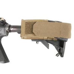Blackhawk! M4 Collapsible Stock Mag Pouch, Adjustable Lid to Accommodate 20- or 30-Round Magazines, Available in Black or Coyote Tan