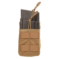 BLACKHAWK 37CL119 TIER STACKED SR25/M14/FAL MAG POUCH - MOLLE, Open top with bungee retention, Grommets for drainage, S.T.R.I.K.E.® webbing on front for attaching additional items