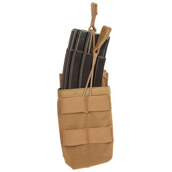 BLACKHAWK 37CL118 TIER STACKED M16/M4/PMAG MAG POUCH - MOLLE, Holds two M16 magazines, Stair-stepped configuration for easy access, Open top with bungee retention, Grommets for drainage