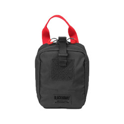 BLACKHAWK 37CL116 QUICK RELEASE MEDICAL POUCH - MOLLE, Side-Release Buckle, Red Handle and Zipper Pulls for Medical Content Identification, Grommets for Drainage, Internal Pocket and Elastic Straps for Stowing Critical Supplies