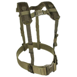 BLACKHAWK LOAD BEARING SUSPENDERS, Wraparound belt loop system Heavy-duty drag handles and sternum strap, available in Black and Olive Drab, 35LBS1