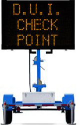 Wanco Metro Message Board Sign and Trailer WVTMM, Compact and Light, Battery Powered, Optional Color