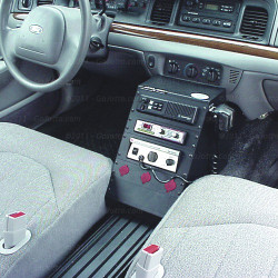 Crown Victoria 12 inch Contour Console Package with Floor Plate by Jotto Desk 1997 - 2012, includes faceplates and filler panels