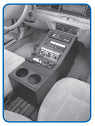Crown Victoria 18 inch Console Package with Floor Plate by Jotto Desk 1997 - 2012, includes faceplates and filler panels