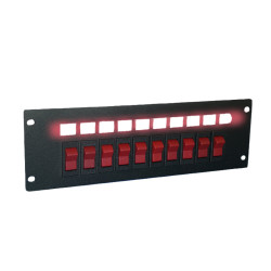 Brooking SP-10SW 10 Rocker Switches Switch Plate, Durable, powder-coated steel plate