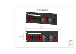 Brooking SP-6SW2O 6 Rocker Switches with Two 12V Outlets, Durable, powder-coated steel plate