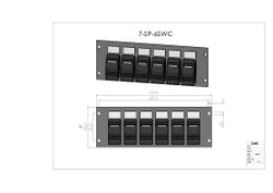 6 Carling Style Switches Panel