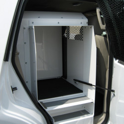 Havis K9-A-101 SUV Law Enforcement Dog K9 Divider Option, Easily Slides in to Create Two Compartment Units, Choose Black or White