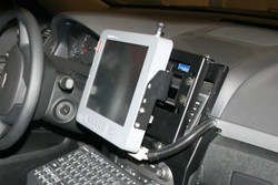 Caprice Police Car Swing Out Dash Monitor Mount Base by Havis 2011-Present