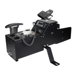 Gamber Johnson 7170-0222-04 Chevrolet Tahoe PPV and SSV (2007-2014) Console Box with Cup Holder, Armrest and Mongoose Motion Attachment Kit, includes faceplates and filler panels