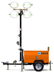 Wanco Portable Light Tower, Diesel Engine Powered
