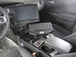 Charger Law Enforcement Console 24 Inch by Havis 2011-Present, includes faceplates and filler panels