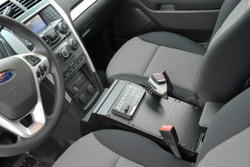 Havis Interceptor Utility (Explorer) SUV Law Enforcement Vehicle Console, doesn't cover OEM USB and Cig Plug,  14 Inches, 2013-2019, includes faceplates and filler panels