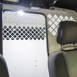 Havis K9-F18 K9 Dog Kennel Transport System, Ford Police Interceptor Utility SUV 2013-2019, Choose Black or White, Designed to Maximize Officer Space and Visibility