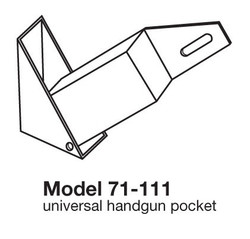 4 Handgun Storage Wall Mount Quad Rack by Tufloc