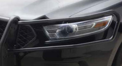 Go Rhino Police Interceptor Sedan Taurus Push Bumper with Wrap Arounds, 2013-2019