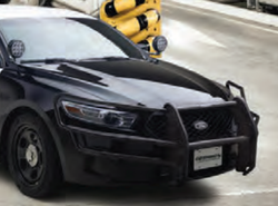Go Rhino Law Enforcement Interceptor Sedan Taurus Push Bar Brush Guard with Wrap Arounds, 2013-2019