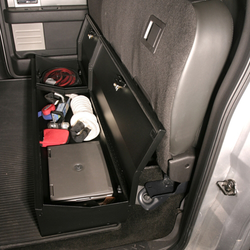 Black Tuffy 306-01 Ford Transit Connect Underseat Security Drawer Passenger Side Install
