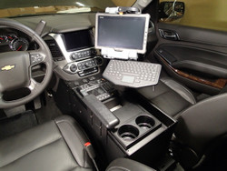 "Tahoe 2015-2020 Law Enforcement Console 20"" Wide Body by Havis, includes faceplates and filler panels"