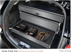 Chevy Tahoe 2007-2014 Storage Organizer Rear Cargo Box by Setina, still access spare tire