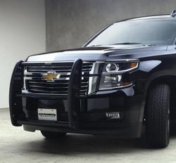 GO RHINO Chevrolet Tahoe 2015-2020 Push Bumper, 5000 Series, Optional Brush Guard Wrap, Steel, choose Texture or Gloss