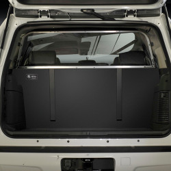 Setina Chevy Tahoe 2015-2020 & 2021+ Law Enforcement SUV Cargo Barrier Rear Partition Cage 12VS, choose Metal Wire or Polycarbonate Plastic Window