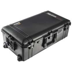 Pelican 1615 Air Case includes Wheels and Retractable extension handle, with Optional Foam instert, Padded Dividers or TrekPak Divider System, Available in Black, 33x16x12, 20 lbs (w-out foam, 16 lbs)