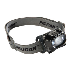 Pelican LED Headlamp, Night vision, Comfortable Cloth Strap, Full Time Battery Level Indicator, Weather Resistant,  2765