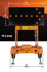 Solar Powered Arrow Board Trailer Traffic Advisor Panel 15 LED Lamp by SolarTech