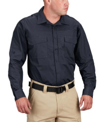 Propper® F5334 Men's Rev-Tac Tactical Casual Button-Down Shirt, Long Sleeve, 65% polyester/cotton 35% ripstop with 2 Chest Pockets, Badge Tab, Mic Loop, available in black, khaki, olive and LAPD Navy