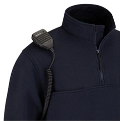 Propper® 1/4 Zip Tactical Fleece Pullover Job Shirt, 80% cotton/ 20% polyester fleece, available in black and LAPD Navy, F5484