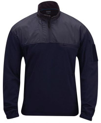 Propper Practical® Tactical Fleece Pullover, 100% Polyester Smooth-Faced Midweight Fleece, 1 Chest Pocket, Sleeve Pocket, 1/4 Zip, Black and LAPD Navy, F5430